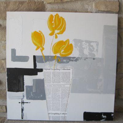 óleo flor amarilla