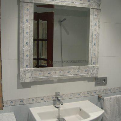 Espejo baño de marmol
