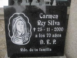lápida grabada