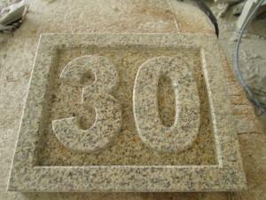 Número piedra