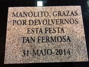 placa grabada piedra