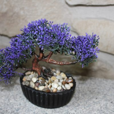 Bonsai artificial morado