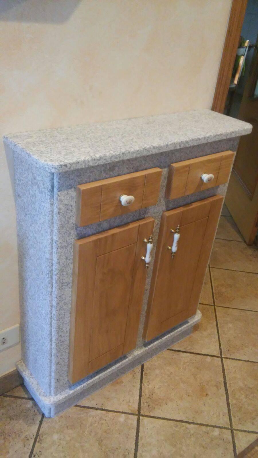 Mueble de entrada pedri as - Muebles de piedra ...