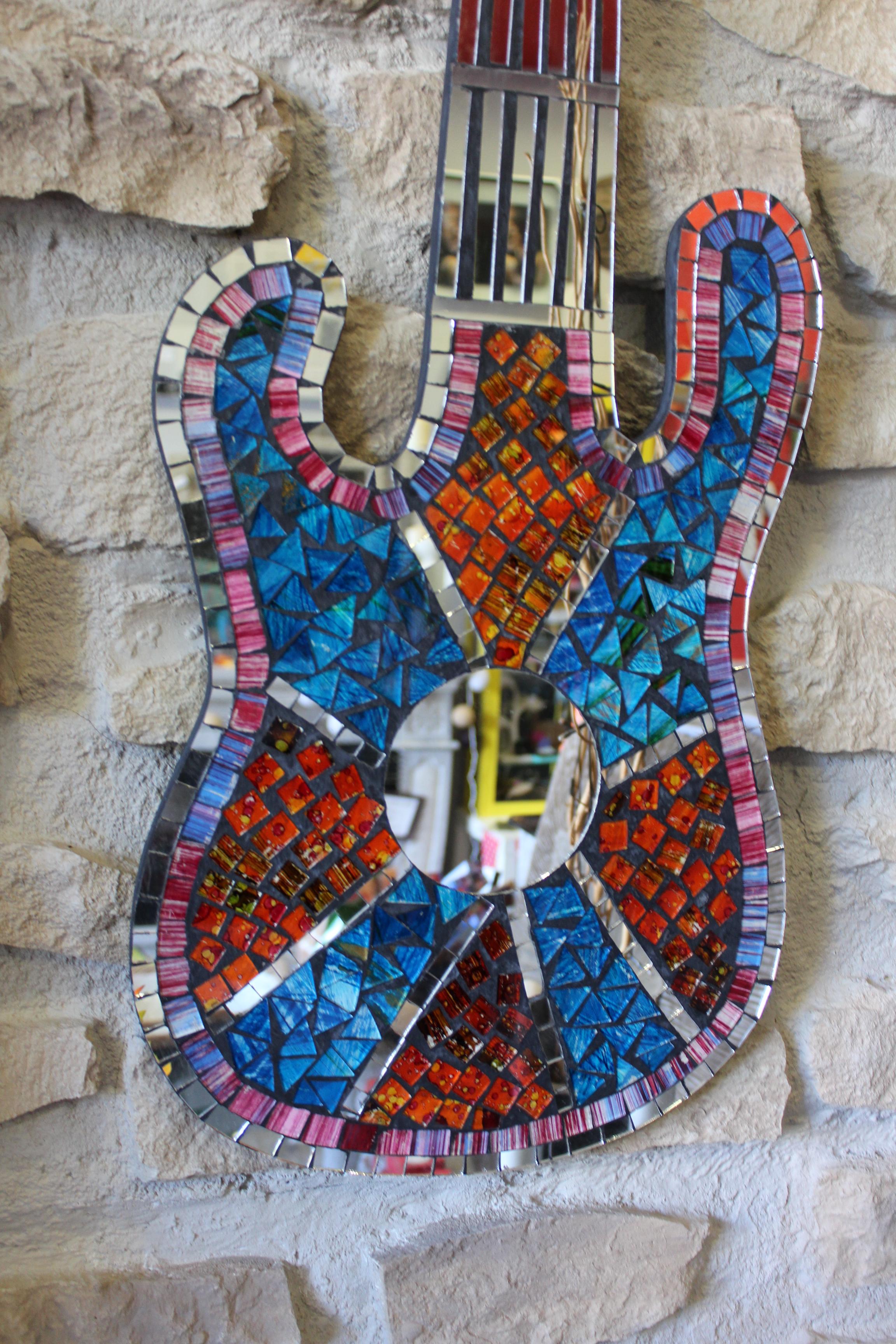 Mosaico guitarra cuadro