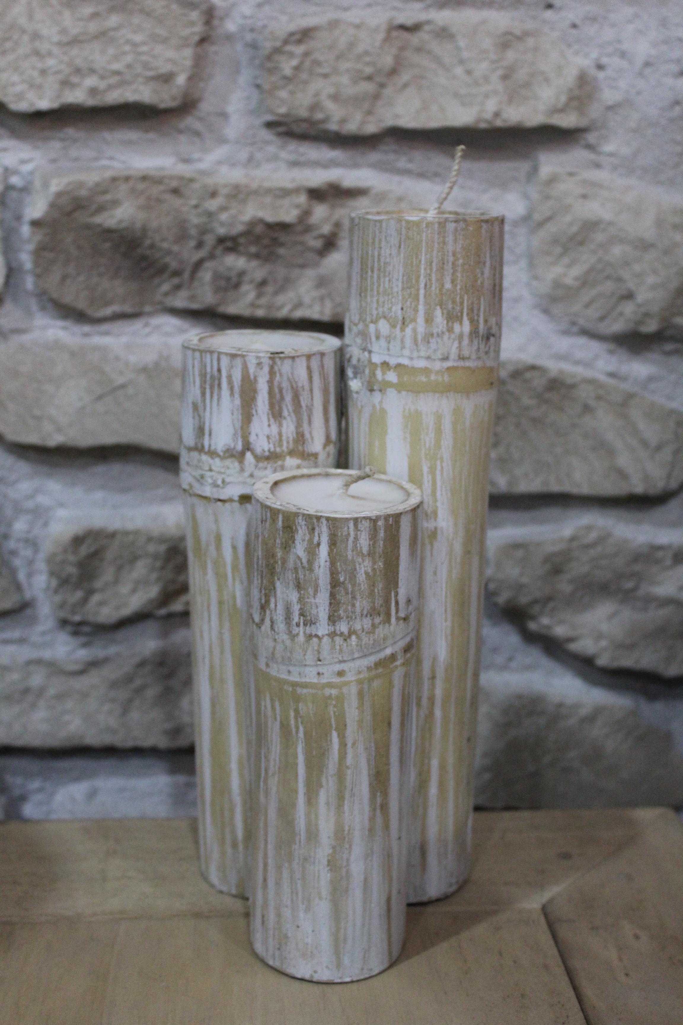 Vela candelabro bambu