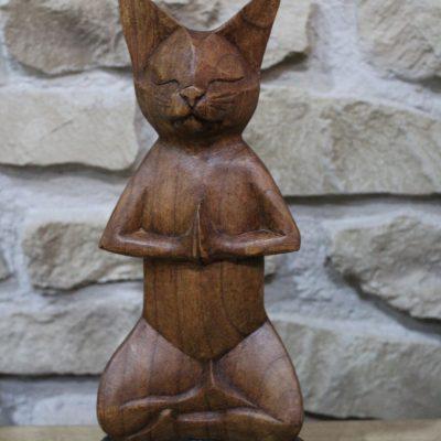 gato madera yoga
