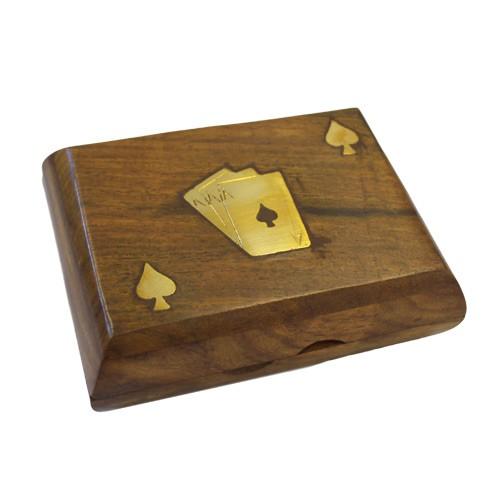 caja madera cartas