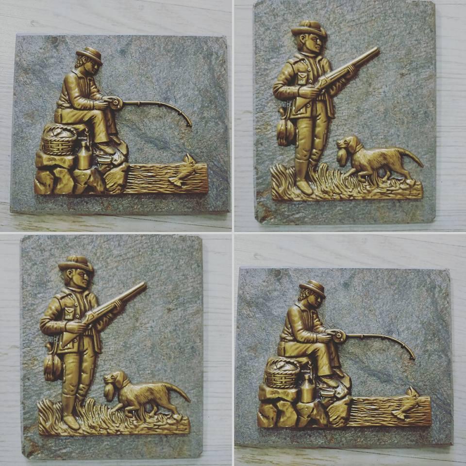 Cazador Pescador piedra