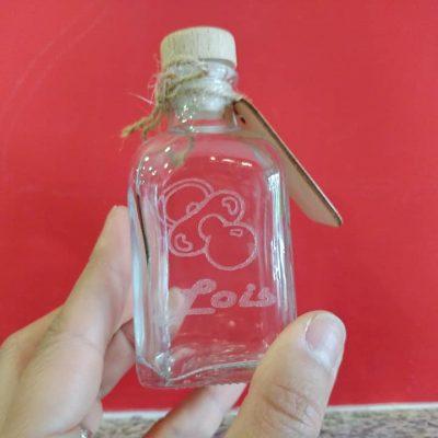 botella cristal grabada bodas