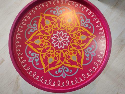 mesa madera nordic rosa