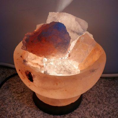 Lámpara de sal cuenco