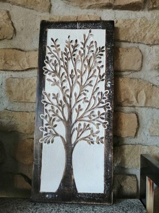 Cuadro madera árbol