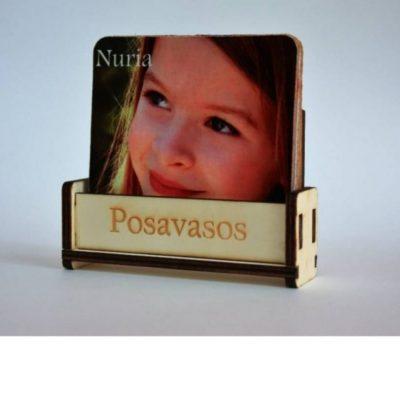 Posavasos madera foto comunion